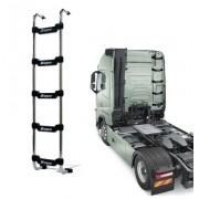 Escada Traseira 5 Degraus Cromada Volvo FH / NH para Res. Clim. Cabine Baixa