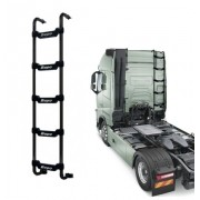 Escada Traseira 5 Degraus Preta Volvo FH / NH para Res. Clim. Cabine Baixa