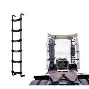 Escada Traseira 6 Degraus Preta Volvo FH / NH para Res. Clim. Cab. Alta
