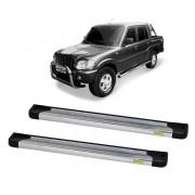 Estribo Plataforma Alumínio Polido Mahindra Pickup Cabine Dupla 2008 em diante