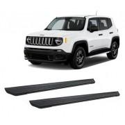 Estribo Alumínio Preto Para Jeep Renegade