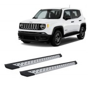 Estribo Alumínio Prata Para Jeep Renegade