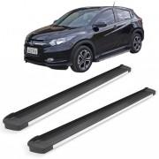 Estribo Alumínio G3 Bepo Preto Fosco com Frente Polida para Honda HRV