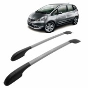 Longarina Decorativa Teto Alumínio Prata Honda FIT