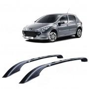 Longarina Decorativa Teto Alumínio Preta Peugeot 307 e 308 Não Fura Teto.