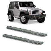 Estribo Plataforma Cromado Jeep Wrangler 2P