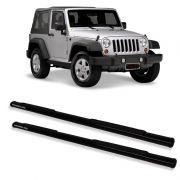 Estribo Oblongo Preto  Jeep Wrangler 2 portas
