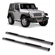 Estribo Oblongo Cromado  Jeep Wrangler 2 portas