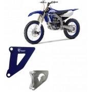 Conjunto Tampa e Proteção Casco/Pinhão Alumínio Anodizado Azul  YZ/WR