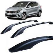 Longarina Teto Alumínio Decorativa Fiat Argo Preto