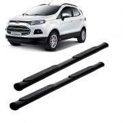 Estribo oval preto com kit ford ecosport 2013 a 2018