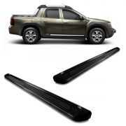 Estribo plataforma em alumínio preto duster ou duster oroch