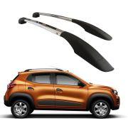 Longarina De Teto Decorativa Renault Kwid Aluminio Polido