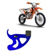 Proteção do Disco de Freio Traseiro Alumínio Azul KTM 2008 a 2015 / Sherco 250 2011 a 2014 / Husaberg 2012 a 2015