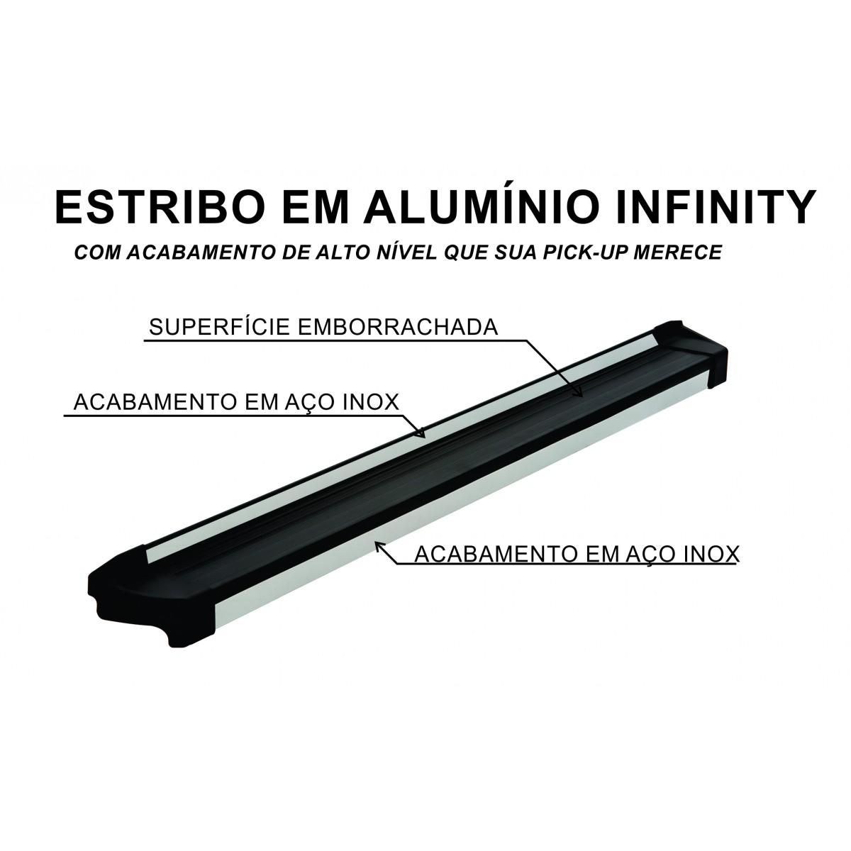 Estribo infinity em borrachado com inox  - TERRA DE ASFALTO ACESSÓRIOS
