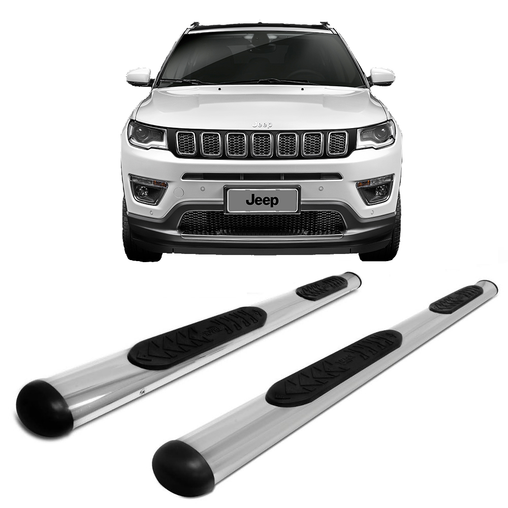 Estribo Oblongo Cromado Jeep Compass 2017