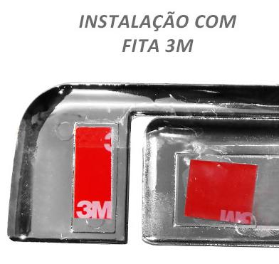 Aplique Cromado de Maçaneta Traseira p/ Nova Ford Ranger  - TERRA DE ASFALTO ACESSÓRIOS