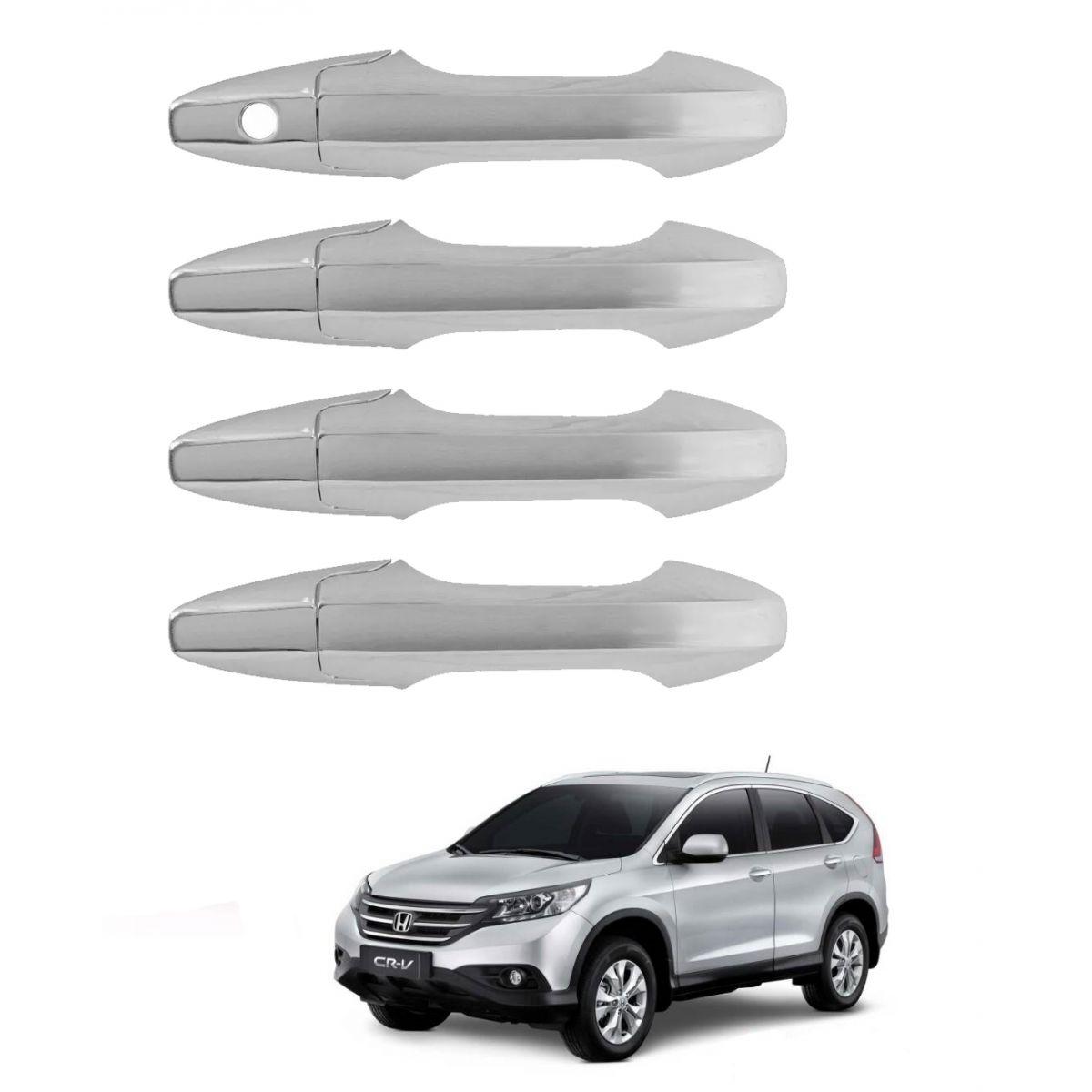 Aplique Cromado de Maçanetas Honda Crv 2012 em diante