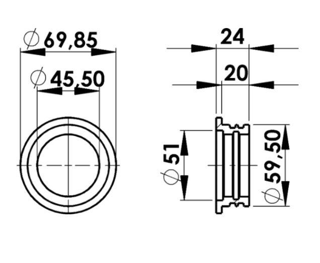 Bucha de Vedação Amortecedor Mola Pneumatica Scania 113 R