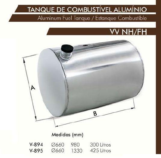 Tanque De Alumínio Volvo Fn / Nh   Bepo
