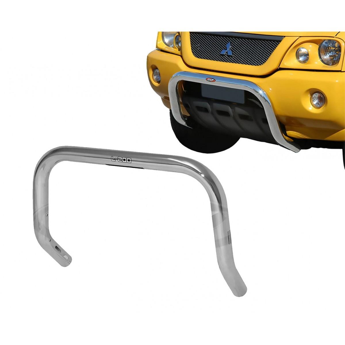 Para Choque Impulsão Cromado Sem Chapa Protetora L200 Sport 2004 a 2007 / L200 Outdoor 2007 a 2012