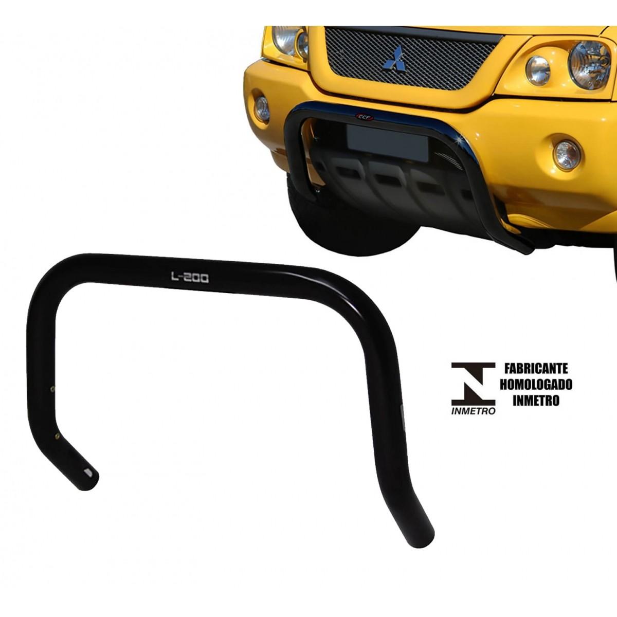 Para Choque Impulsão Sem Chapa Preto L200 Sport 2004 a 2007 ou L200 Outdoor 2007 a 2012
