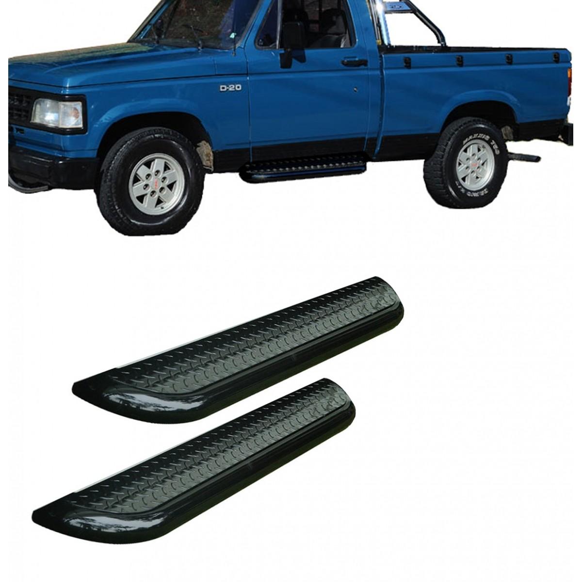 Estribo Plataforma Preto D20 1985 a 1996 Cabine Simples
