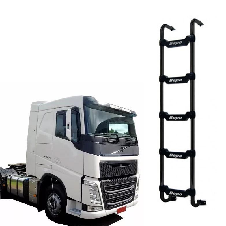 Escada Traseira 5 Degraus Preta Sem Furar Cabine Volvo FH Cab. Baixa 2015