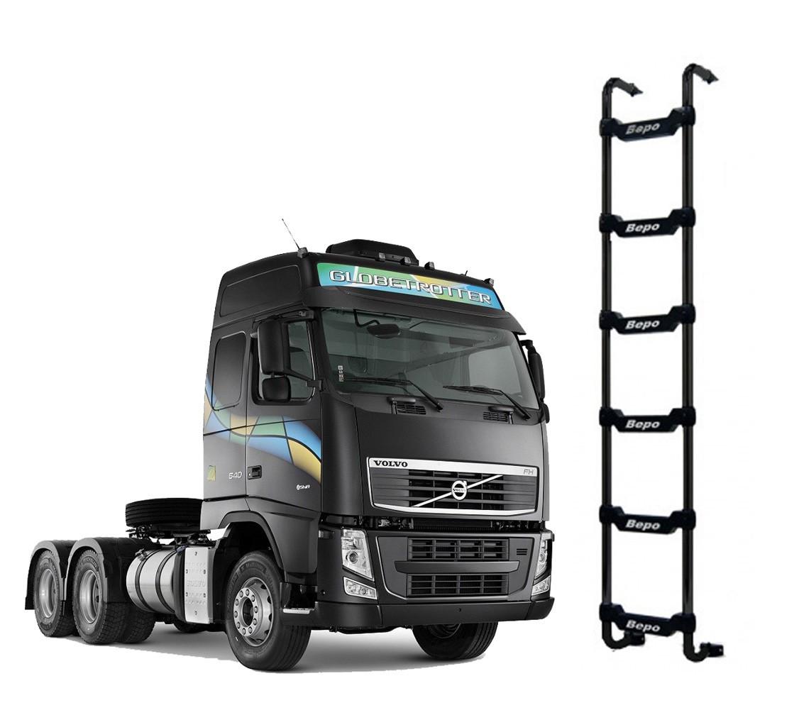 Escada Traseira 6 Degraus Preta Sem Furar a Cabine Volvo Globetrotter 2015