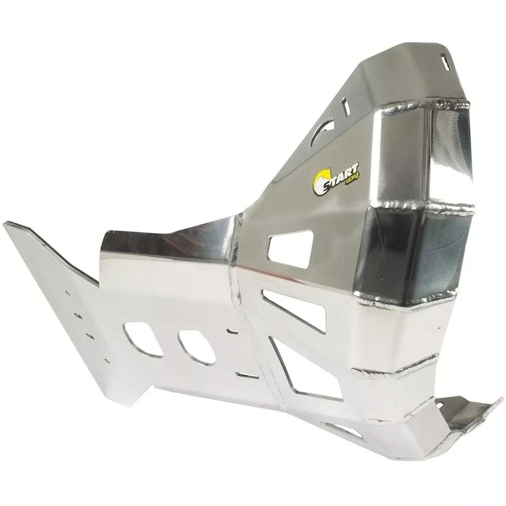 Proteção de Motor e Cano Alumínio Polido KTM / Husq. 2T 250 / 300cc 2017