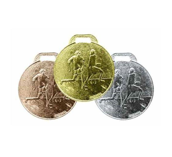 2893 Medalhas 29mm Futebol - Ouro Prata Bronze - Aço Com Fita