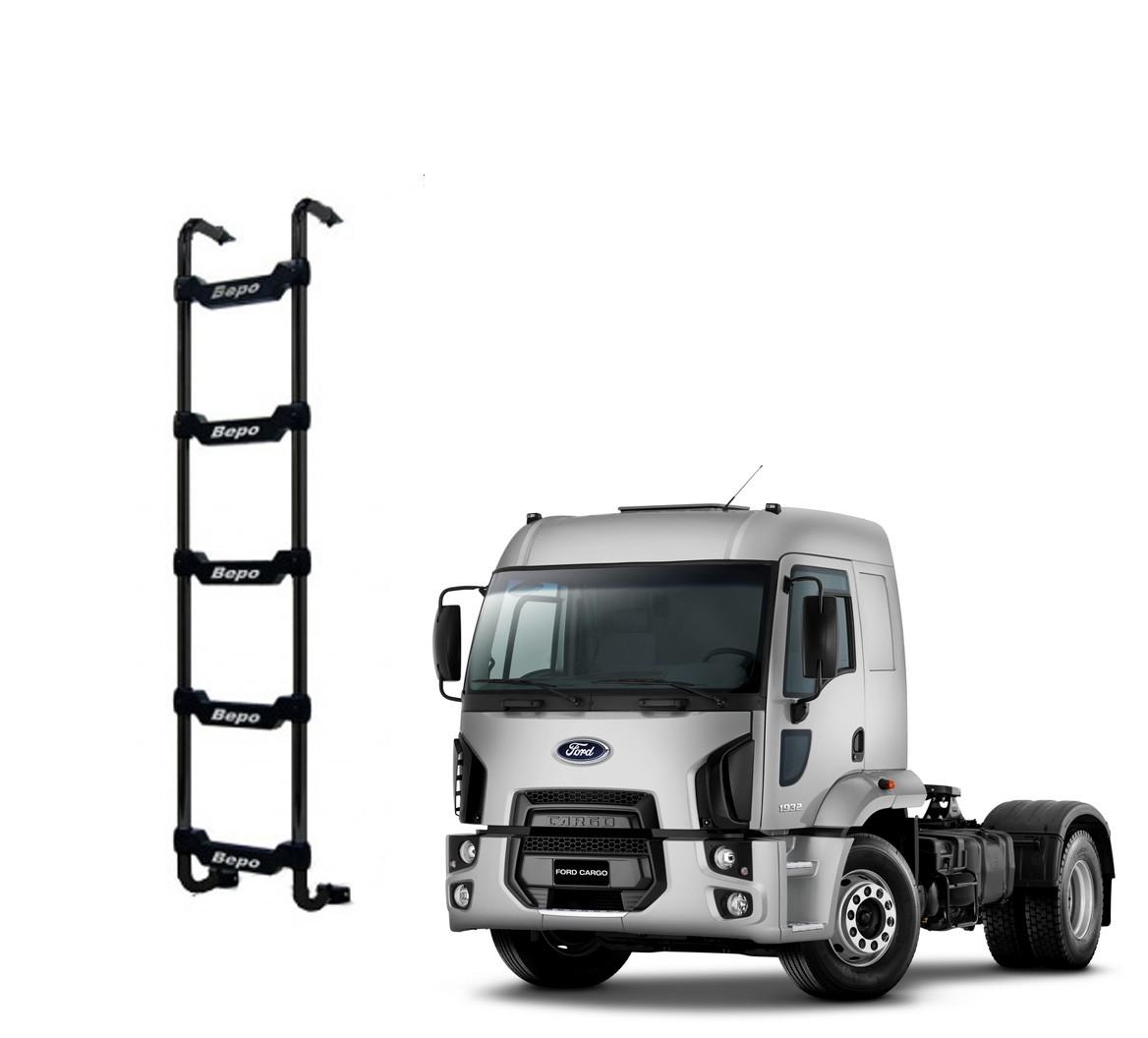 Escada Traseira 5 Degraus Preta Ford Cargo 2012 Cabine Alta