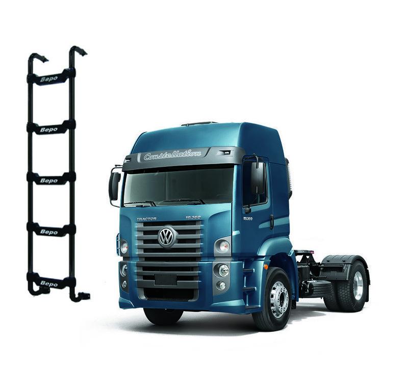 Escada Traseira 5 Degraus Preta VW Constellation Cabine Alta