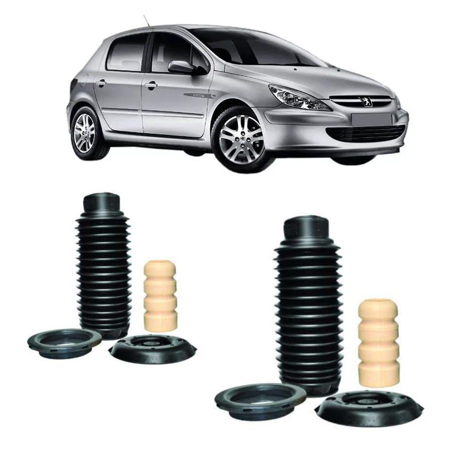 2 Kits Batente Coxim Coifa Rolamento Dianteiro Peugeot 307 Nakata