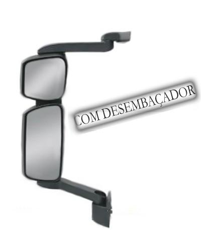Conjunto Espelho Retrovisor Convexo Cursor Lado Esquerdo Elétrico Com Desembaçador Fabbof para Iveco Tector