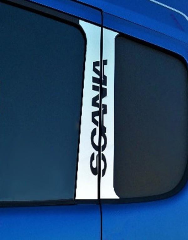Conjunto Inox Coluna da Porta Scania até 1998