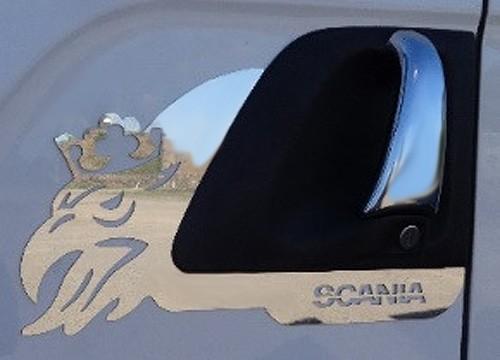 Moldura Inox Grifão Maçaneta da Porta Scania G / R 1998 em diante