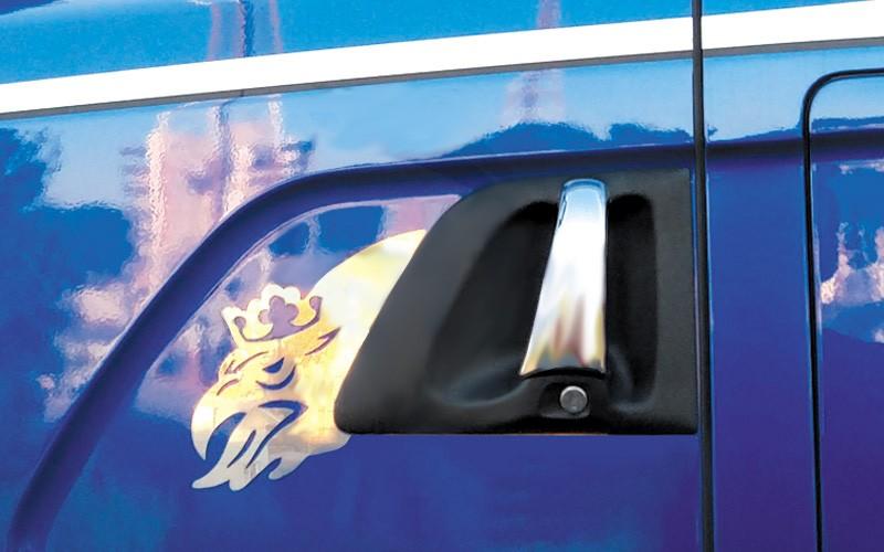 Moldura Inox Grifão Maçaneta da Porta Scania 1998 em diante
