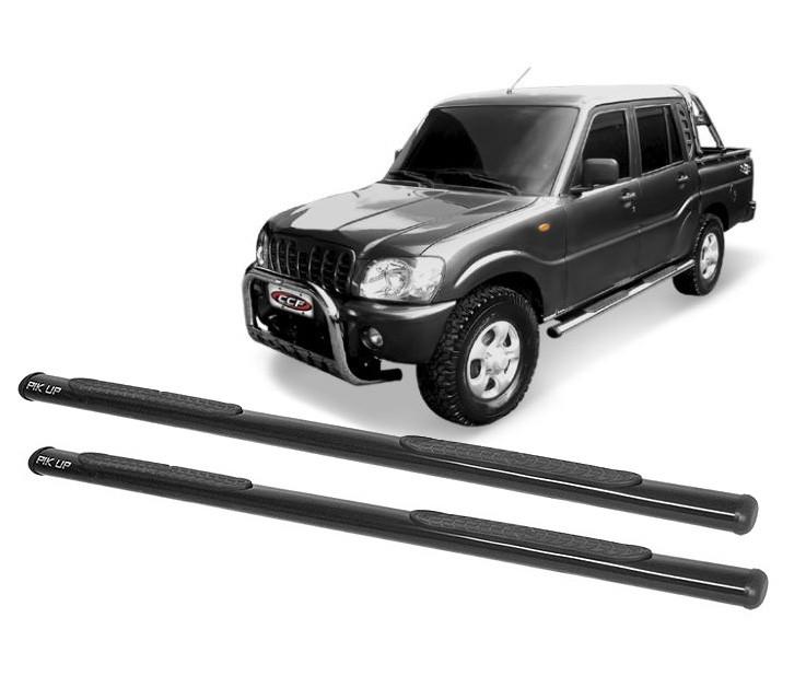 Estribo Oblongo Preto Mahindra Pickup Cabine Dupla 2008 em diante