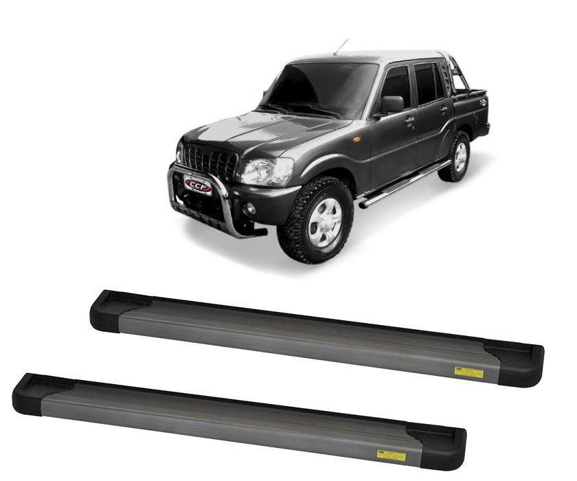 Estribo Plataforma Alumínio Ônix Mahindra Pickup Cabine Dupla 2008 em diante