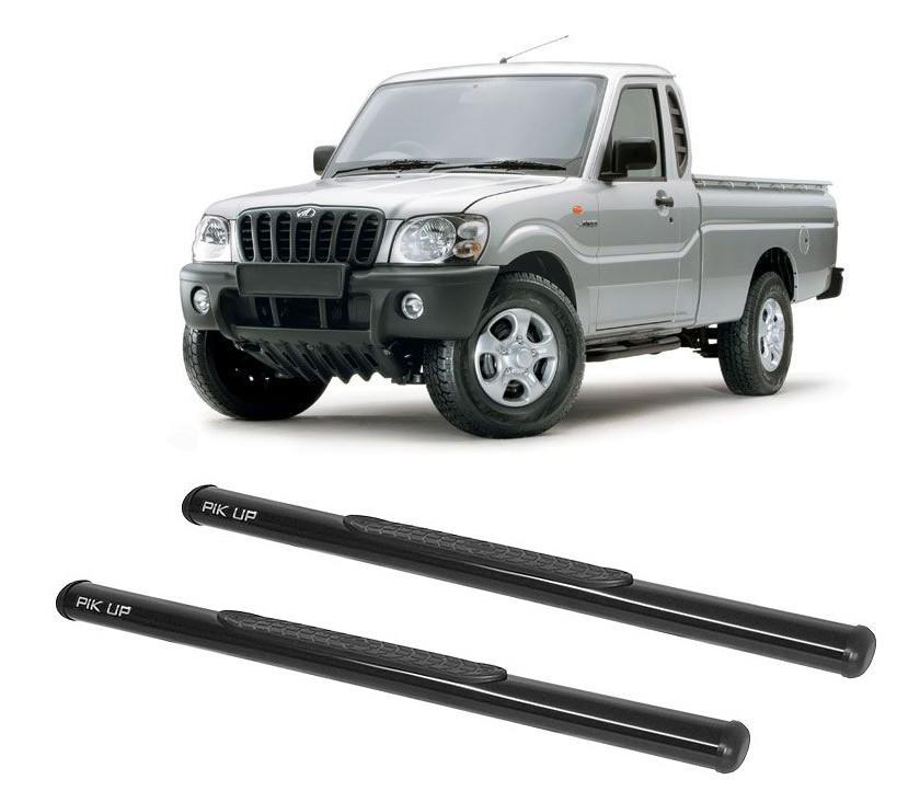 Estribo Oblongo Preto Mahindra Pickup Cabine Simples 2008 em diante