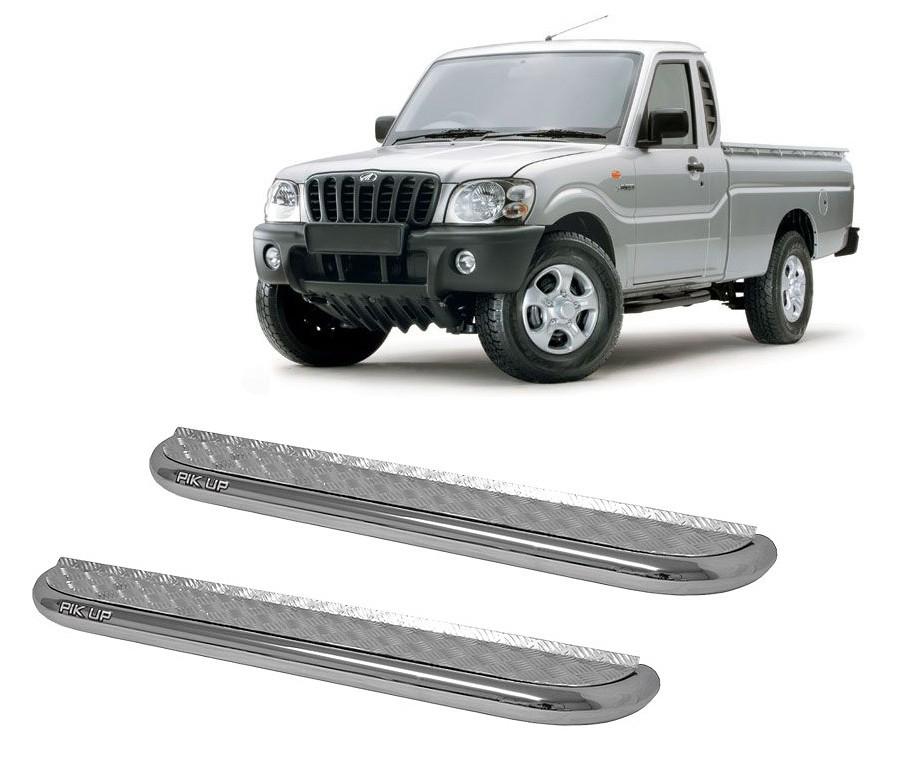 Estribo Plataforma Cromado Mahindra Pickup Cabine Simples 2008 em diante