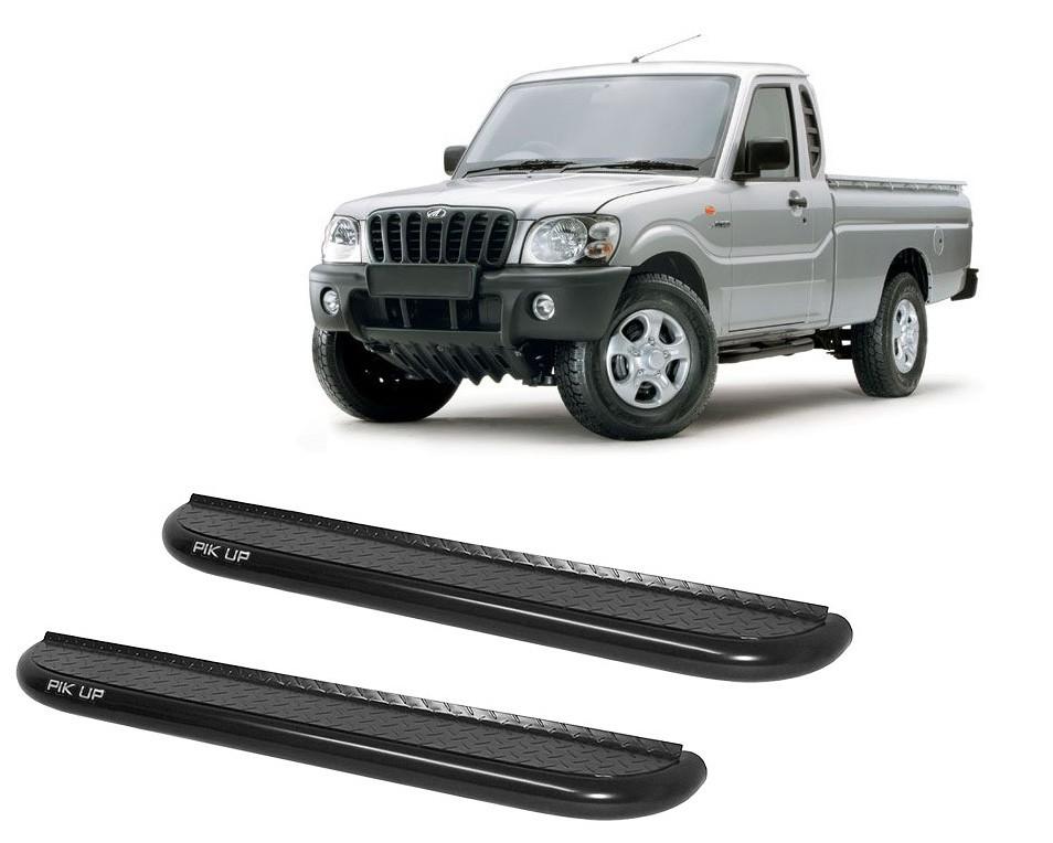 Estribo Plataforma Preto Mahindra Pickup Cabine Simples 2008 em diante