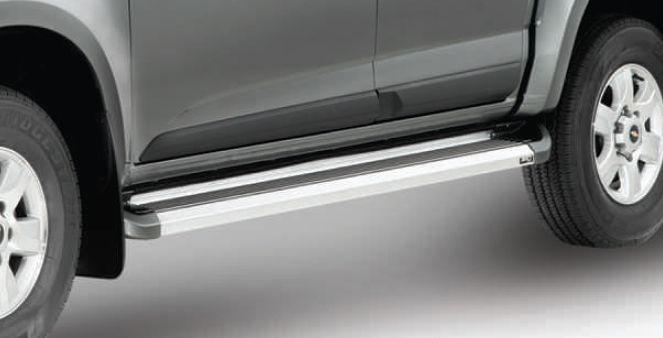 Estribo de alumínio g2 - cab dupla - s10 ranger f250 hilux - bepo  - TERRA DE ASFALTO ACESSÓRIOS