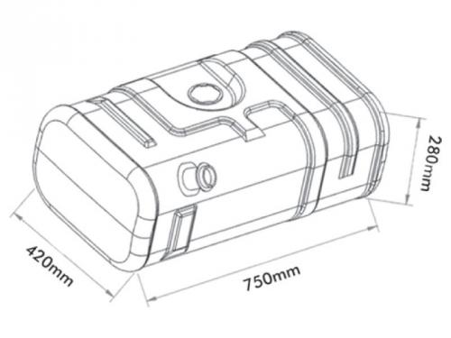 Tanque de Combustível Plástico para Iveco Daily 70L