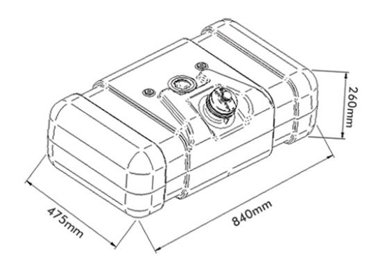 Tanque de combustível plástico 80l  mercedes benz 608d Bepo