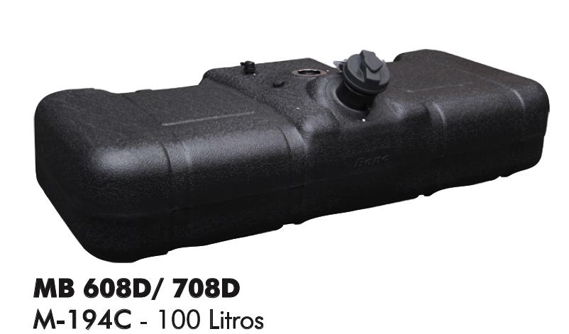 Tanque De Combustível Plástico 100l Mercedes Benz 608d / 708e