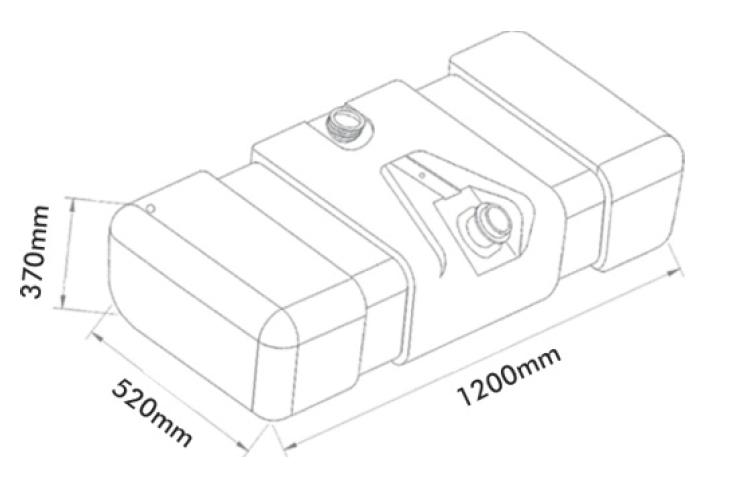 Tanque Comb. Plástico 150l  Mb 709 912 914c Accelo