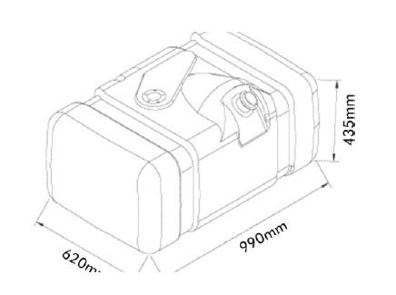 Tanque Combustível Plástico 210 L. MB 1620 2003...