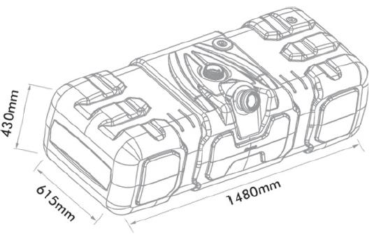 Tanque Combustível Plástico 300l Mb Axor Ônibus Of Oh 2001..